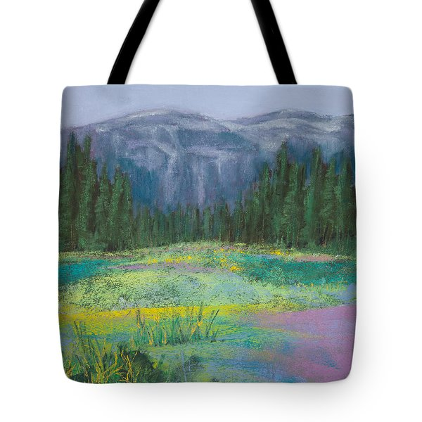 Meadow In The Cascades Tote Bag by David Patterson