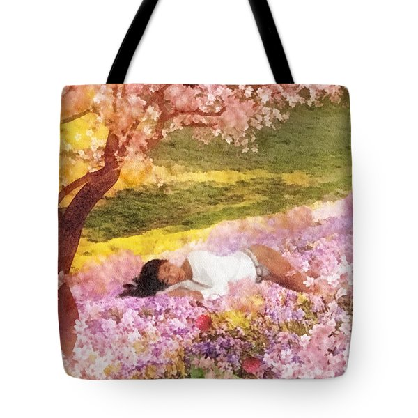 Meadows Of Heaven Tote Bag by Mo T