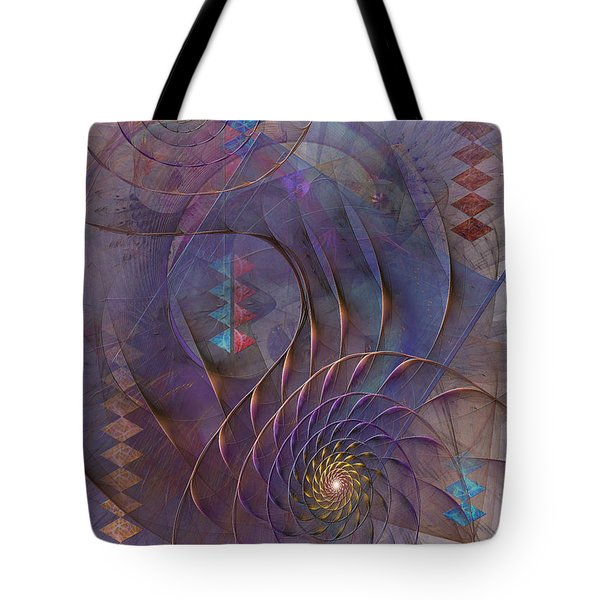 Meandering Acquiescence Tote Bag by John Robert Beck