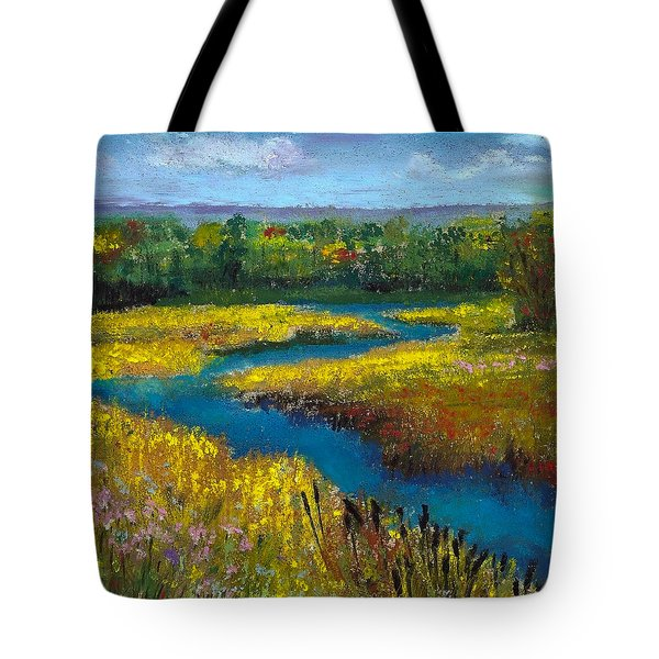 Meandering Stream Tote Bag by David Patterson