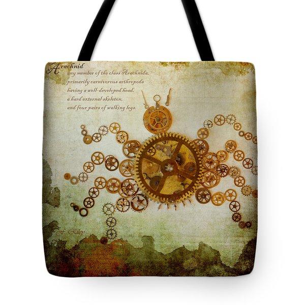 Mechanical - Arachnid Tote Bag by Fran Riley