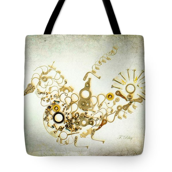 Mechanical - Bird Tote Bag by Fran Riley