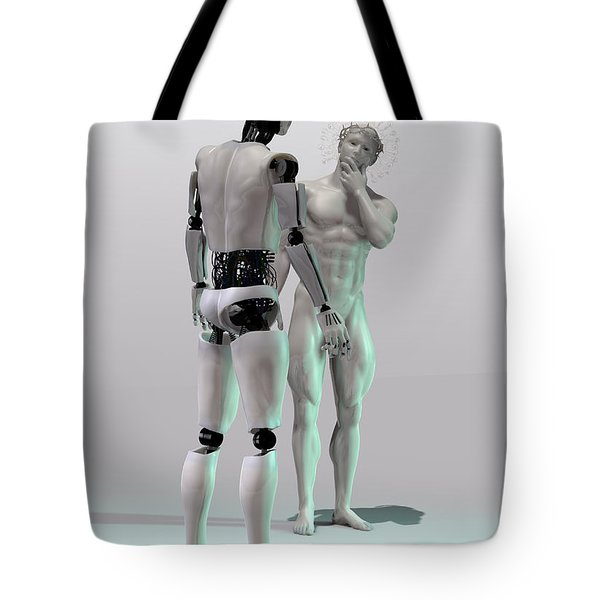 Mechanical God's creation Tote Bag by Joaquin Abella