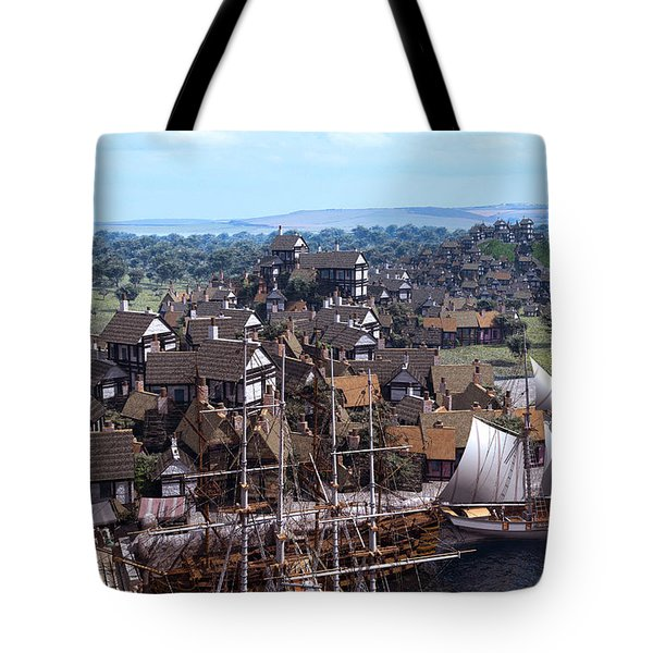 Med Village Tote Bag by Dominic Davison