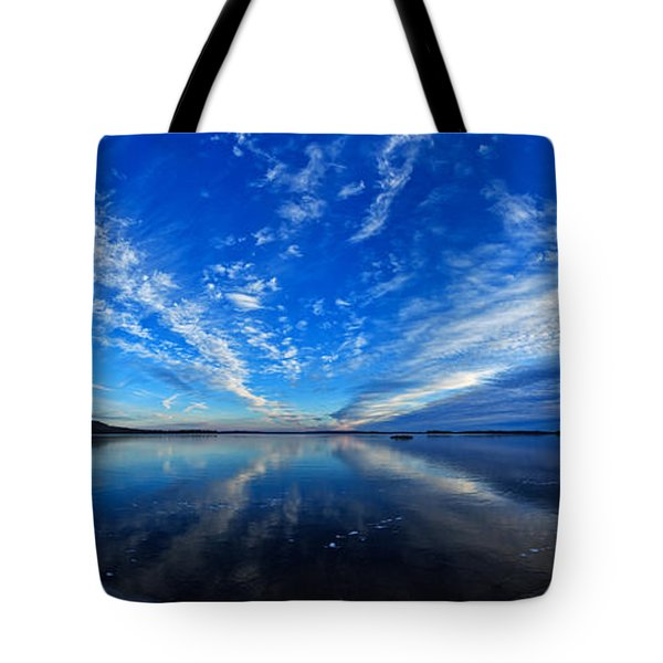 Meddybemps Blues 2 Panorama Tote Bag by Bill Caldwell -        ABeautifulSky Photography