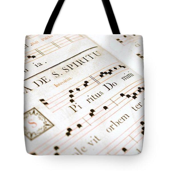 Mediavel chorus book  Tote Bag by Fabrizio Troiani