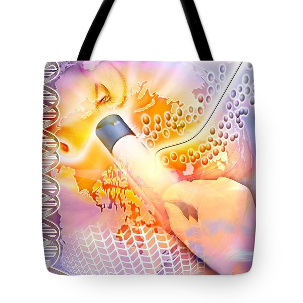 Medical Discovery Composite Tote Bag by Design Pics Eye Traveller