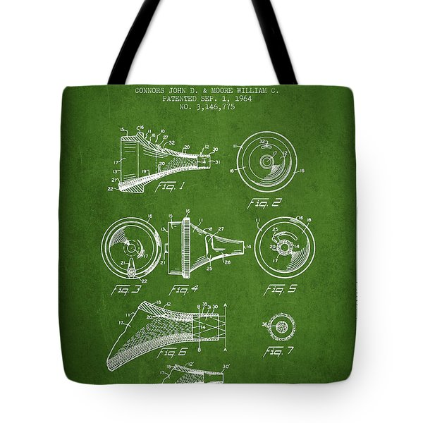 Medical Instrument Patent From 1964 - Green Tote Bag by Aged Pixel