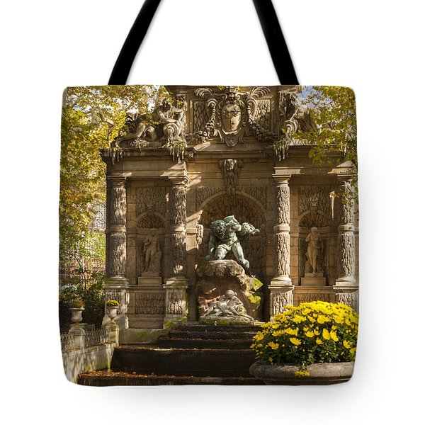 Medici Fountain - Paris Tote Bag by Brian Jannsen