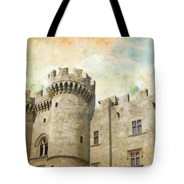 Medieval City of Rhodes Tote Bag by Catf