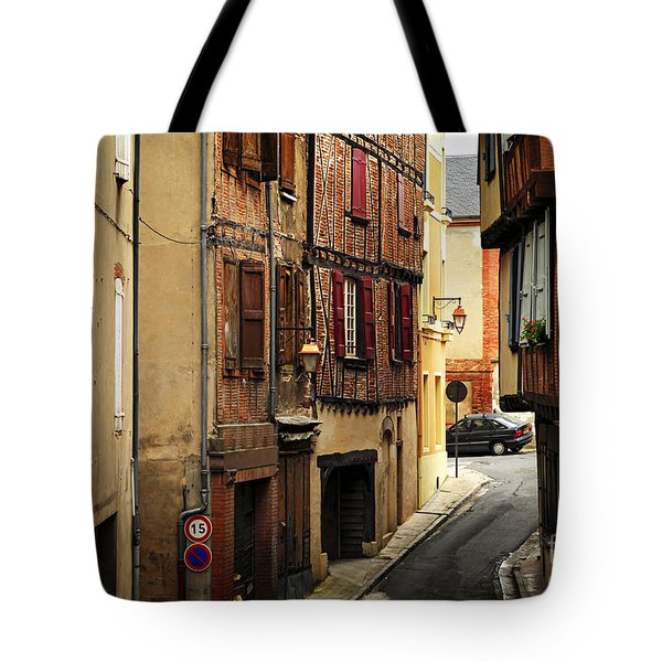 Medieval Street In Albi France Tote Bag by Elena Elisseeva