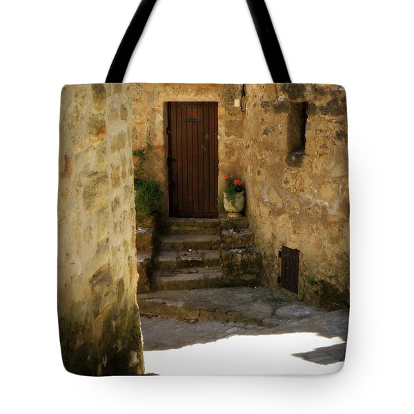 Medieval Village Street Tote Bag by Lainie Wrightson