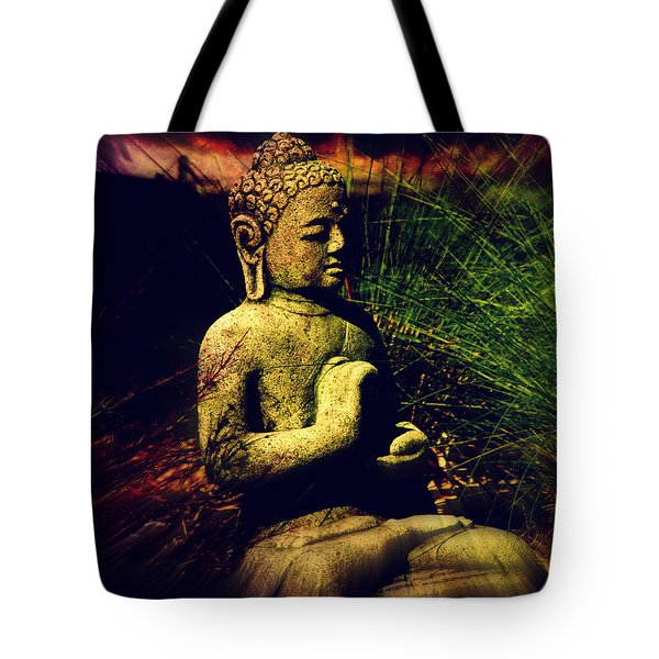 Meditating Buddha Tote Bag by Susanne Van Hulst