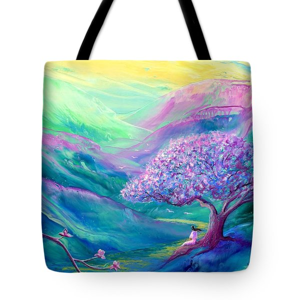 Meditation in Mauve Tote Bag by Jane Small
