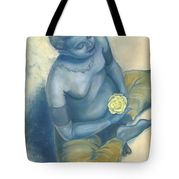 Meditation With Flower Tote Bag by Judith Grzimek