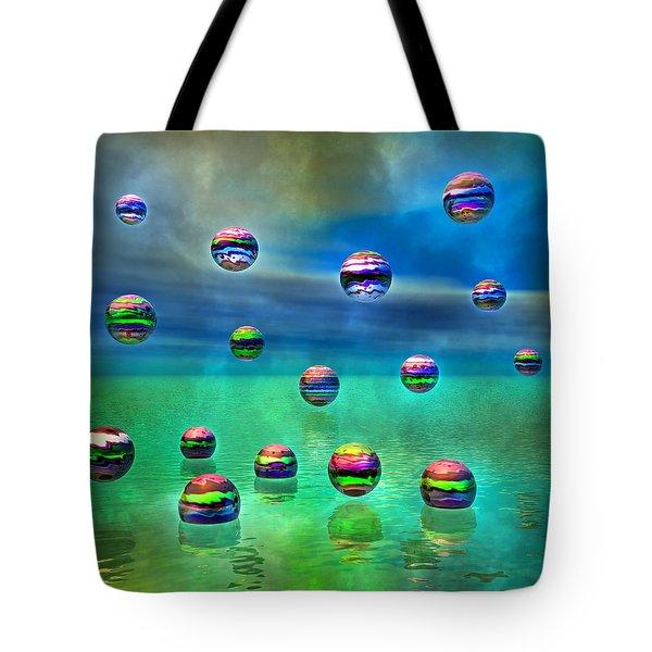 Meditative Pool Tote Bag by Betsy C  Knapp