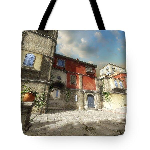 Mediterranean Street Tote Bag by Cynthia Decker