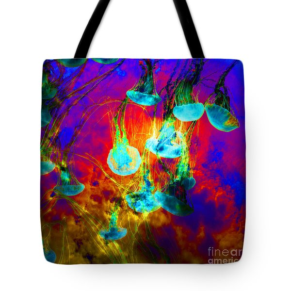 Medusas On Fire 5d24939 Square Tote Bag by Wingsdomain Art and Photography