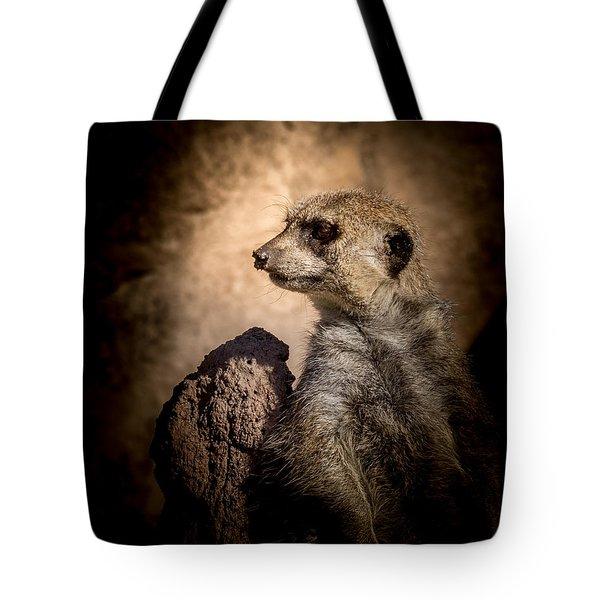 Meerkat 12 Tote Bag by Ernie Echols