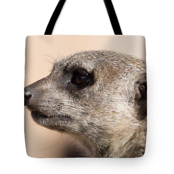 Meerkat Mug Shot Tote Bag by Ernie Echols