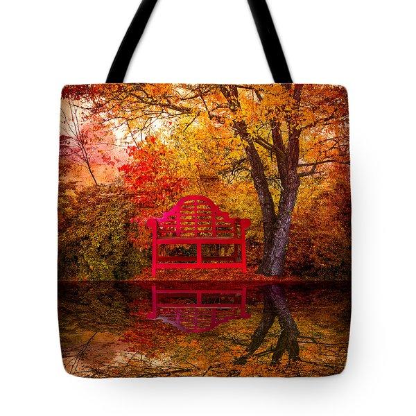 Meet Me at the Pond Tote Bag by Debra and Dave Vanderlaan