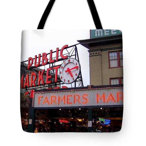 Meet Me In Seattle Tote Bag by Karen Wiles