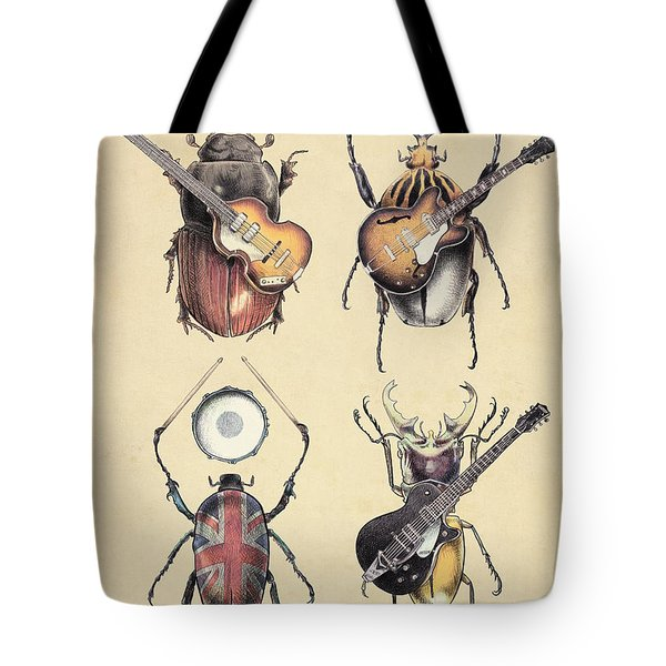 Meet The Beetles Tote Bag by Eric Fan