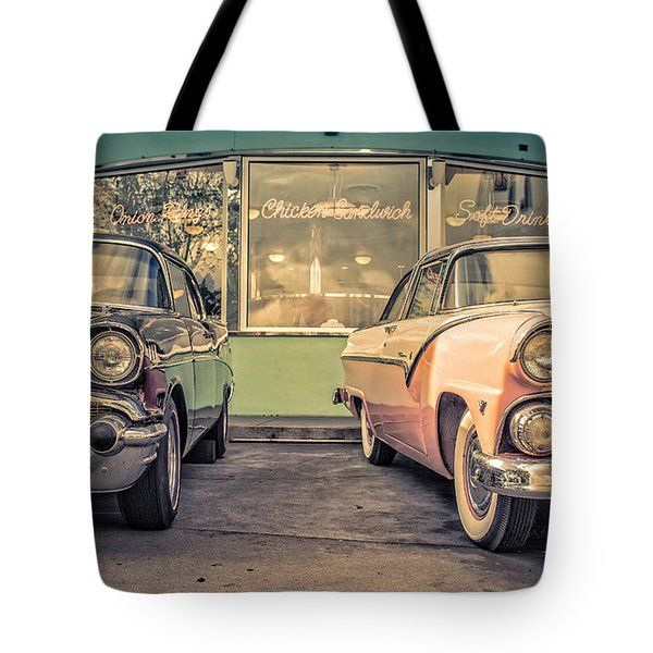 Mel's Drive-in Tote Bag by Edward Fielding