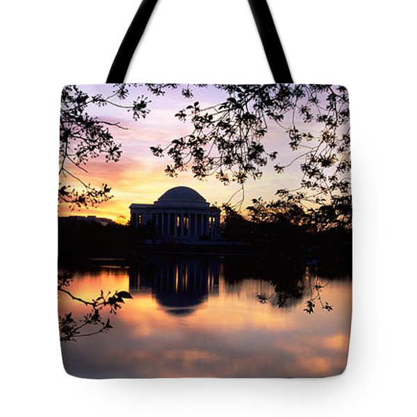 Memorial At The Waterfront, Jefferson Tote Bag by Panoramic Images
