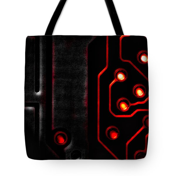Memory Chip BWR Tote Bag by Bob Orsillo