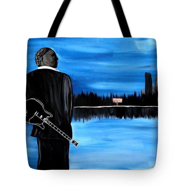 Memphis Dream with B B King Tote Bag by Mark Moore