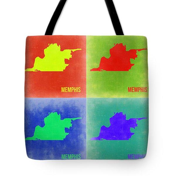 Memphis Pop Art Map 2 Tote Bag by Naxart Studio