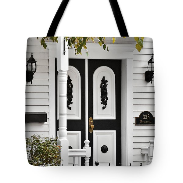 Menomonee Street Old Town Chicago Tote Bag by Christine Till