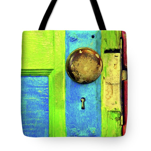 MERCADO DOOR Tote Bag by Joe Jake Pratt