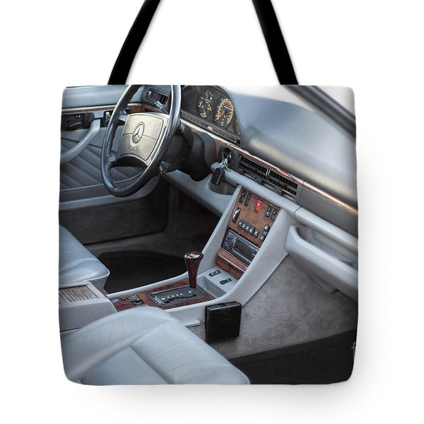 Mercedes 560 Sec Interior Tote Bag by Gunter Nezhoda