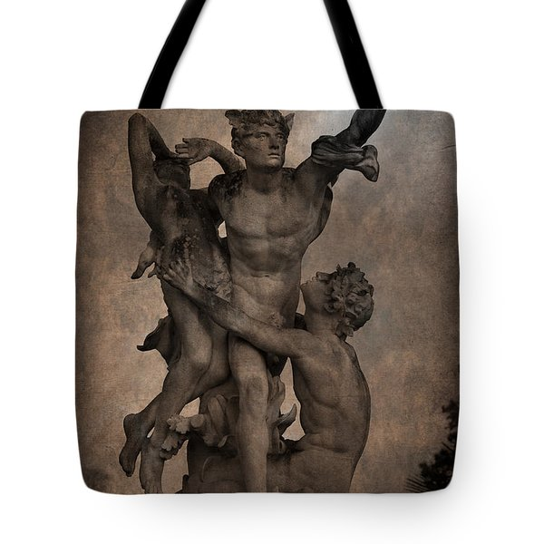 Mercury carrying Eurydice to the Underworld Tote Bag by Loriental Photography