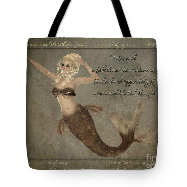 Mermaid-5 Photoart Tote Bag by Becky Hayes