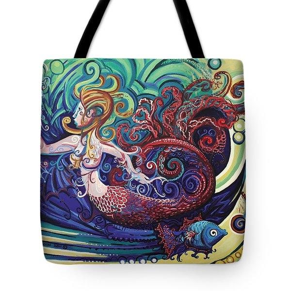 Mermaid Gargoyle Tote Bag by Genevieve Esson