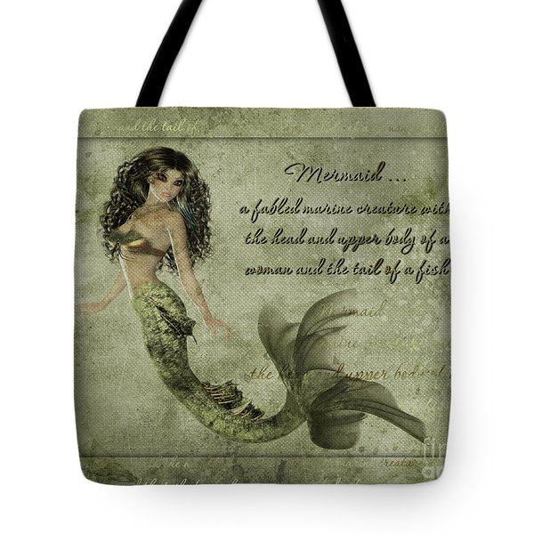 Mermaid Photoart Tote Bag by Becky Hayes