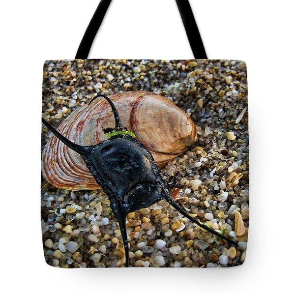 Mermaids Purse Tote Bag by Heather Applegate