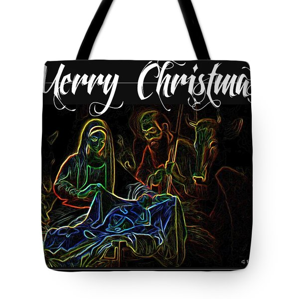 Merry Christmas Tote Bag by George Pedro