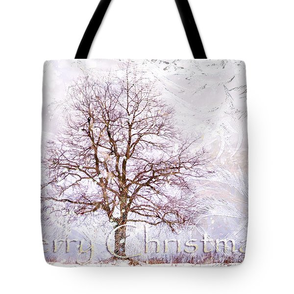 Merry Christmas Tote Bag by Jenny Rainbow