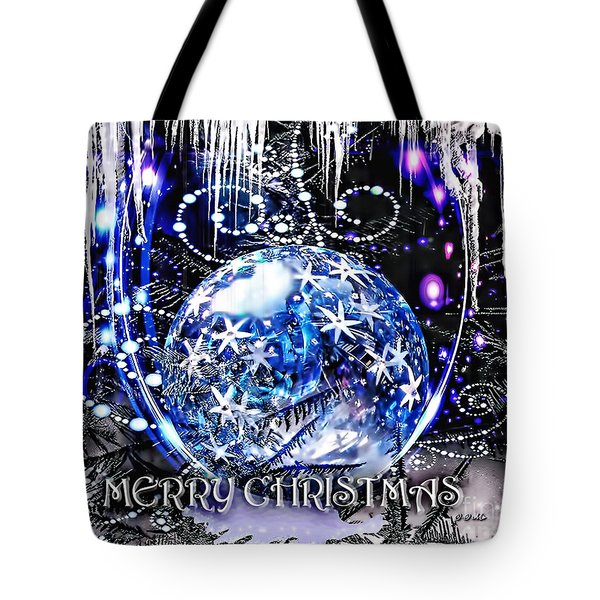 Merry Christmas Tote Bag by Mo T