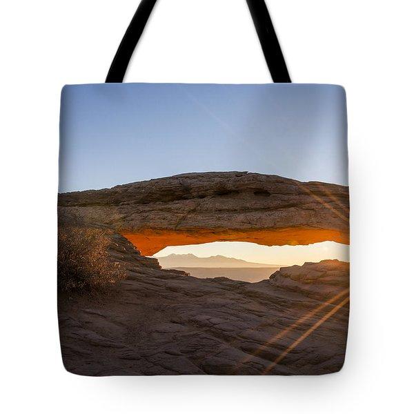 Mesa Arch Sunrise 7 - Canyonlands National Park - Moab Utah Tote Bag by Brian Harig