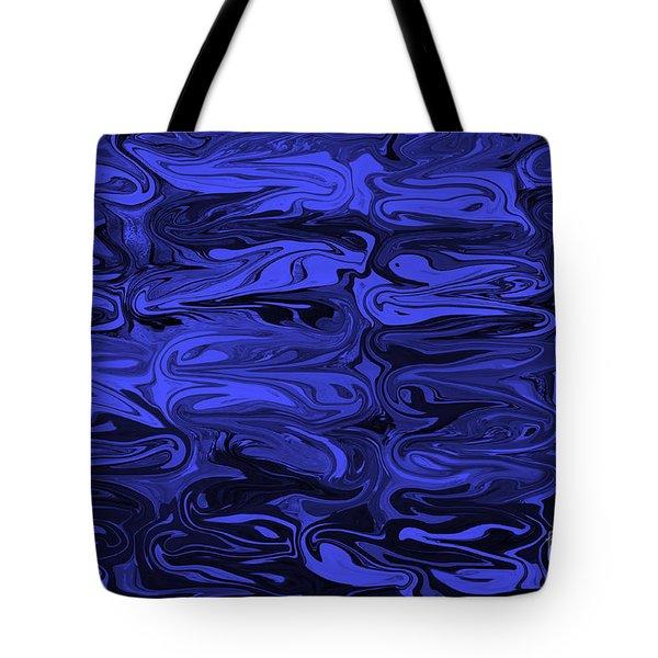 Mesmerizing Deep Blue Tote Bag by Carol Groenen