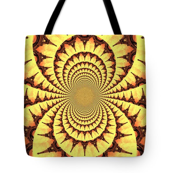 Mesmerizing Eiffel Tower Abstract Tote Bag by Carol Groenen