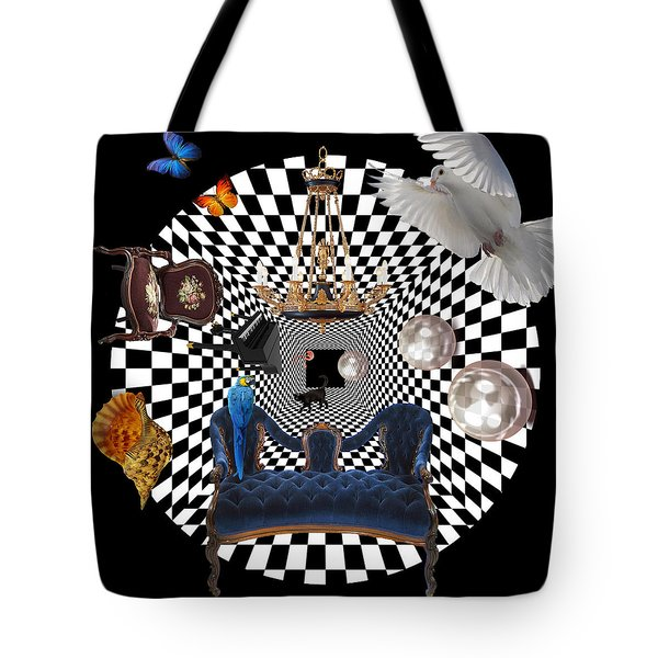 Mess In Wonderland  Tote Bag by Mark Ashkenazi