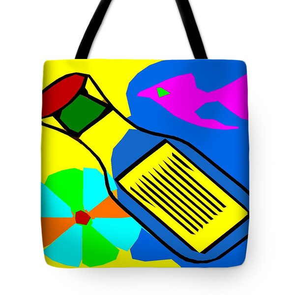 MESSAGE IN A BOTTLE Tote Bag by Patrick J Murphy