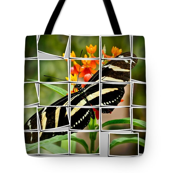 Messed up butterfly Tote Bag by Jean Noren