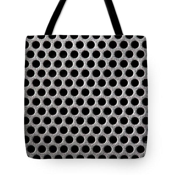 Metal grill dot pattern Tote Bag by Simon Bratt Photography LRPS